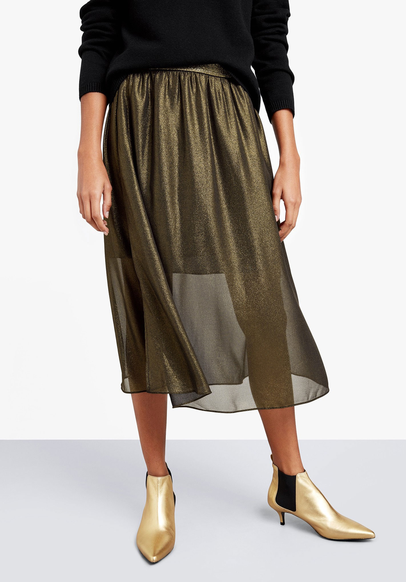 Hush metallic skirt