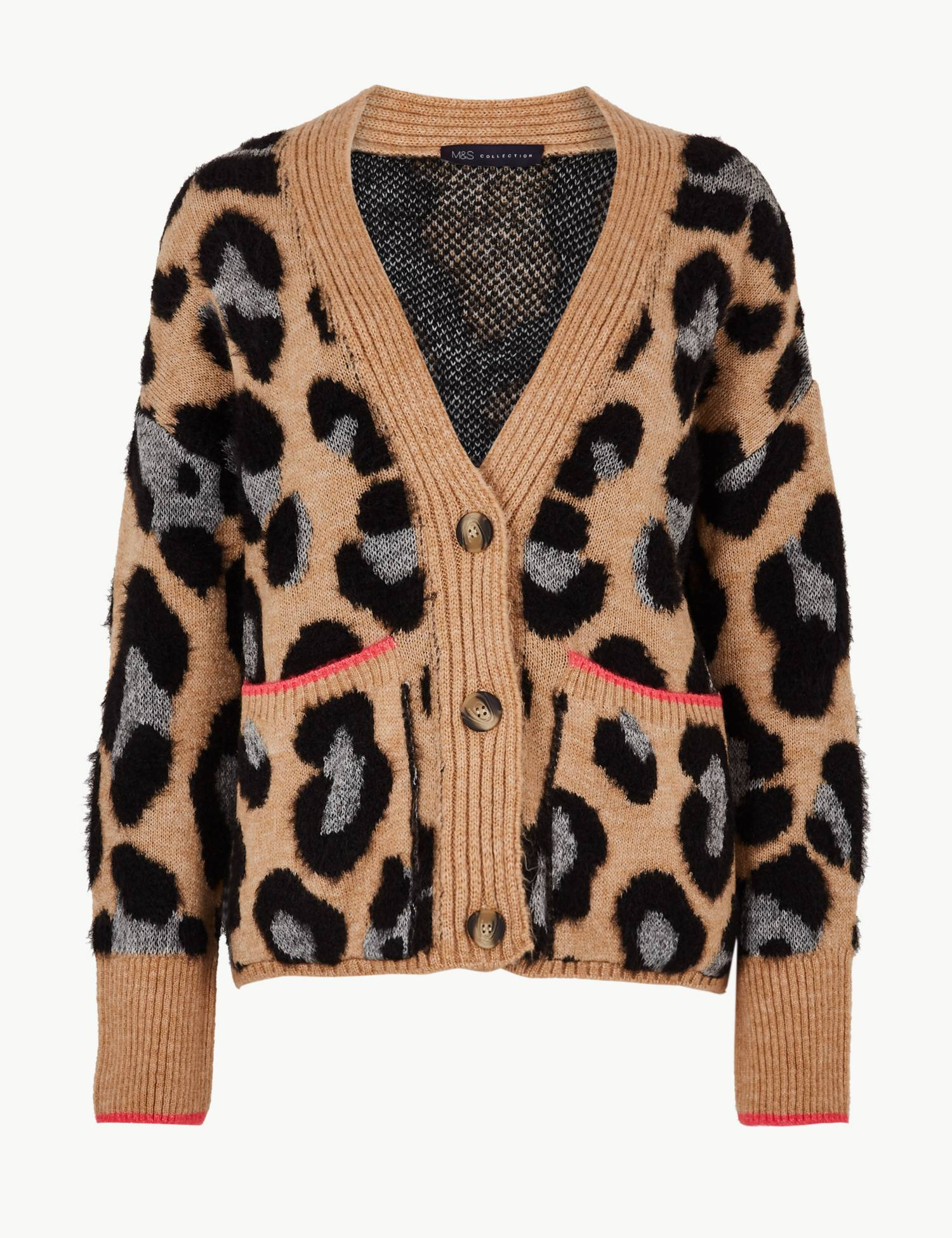 Fluffy leopard cardigan from M&S